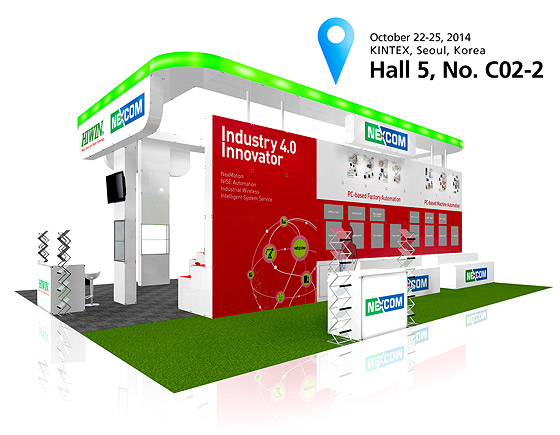 Explore NEXCOM's Smart Factory Blueprint Based on Industry 4.0 at Korea Robot World 2014.