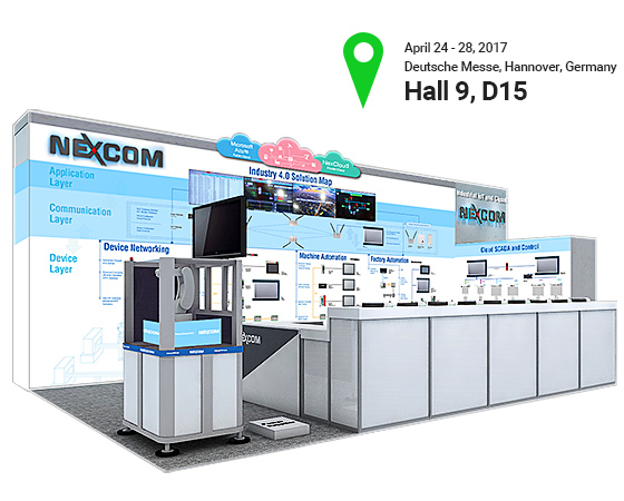 Discover How NEXCOM Implements A Complete Industry 4.0 Solution at 2017 Hannover Messe
