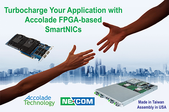 Accolade Technology and NEXCOM Announce Partnership to Bundle SmartNICs with Server Grade Appliances