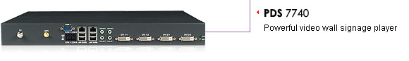PDS 7740-powerful video wall signage player