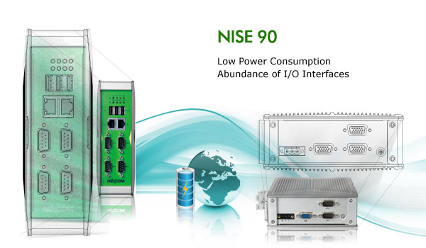 Fanless DIN-Rail Computer NISE 90 Targeted at Industrial Automation Market