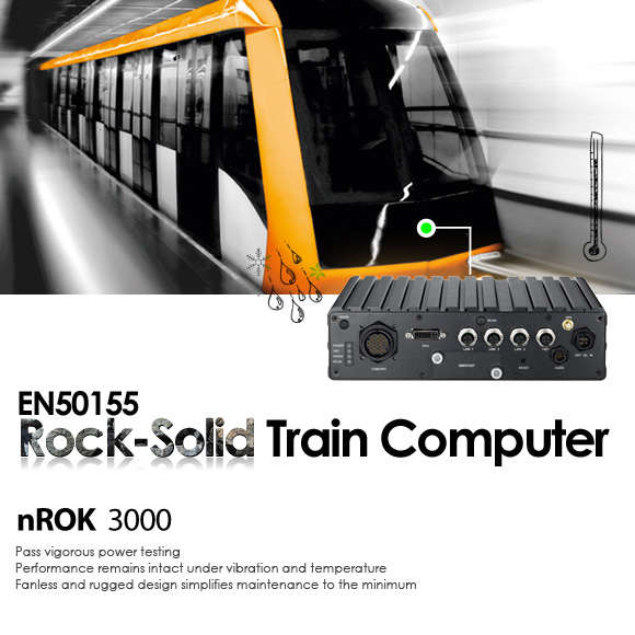 EN50155 Transportation Computer Keeps Trains under Control