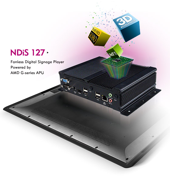 1080P media player, Digital Signage Player - NDiS 127