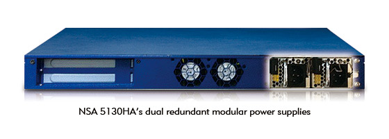 NSA 5130HA is built with dual redundant