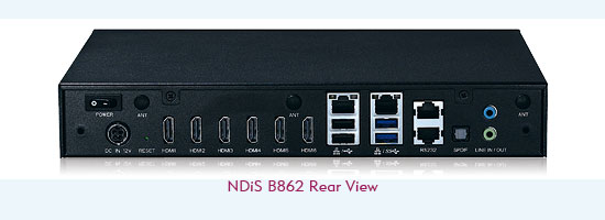 Digital Signage Player-NDiS B862 Rear View