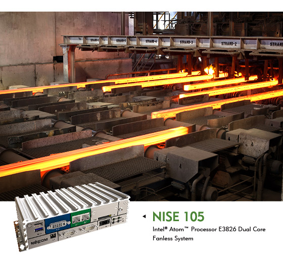 Empowers the Connected Factory with NEXCOM Compact Fanless Computer NISE 105