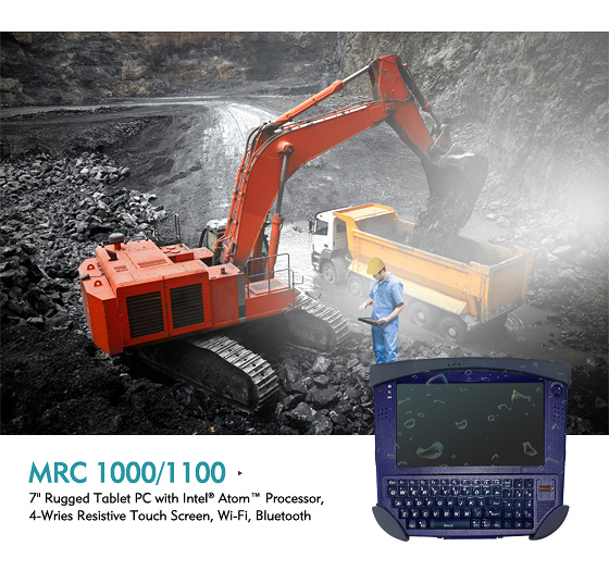 Rugged Tablet MRC 1000/1100 Toughens up for Industrial Rigors