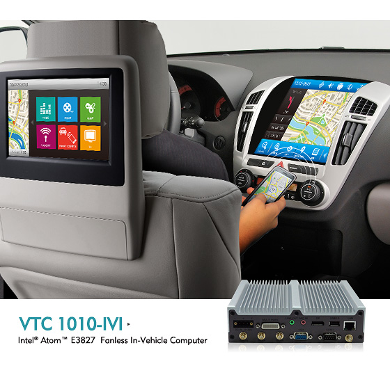 NEXCOM-In-vehicle Computer VTC 1010-IVI Supports Tizen IVI, Connecting Vehicles Now