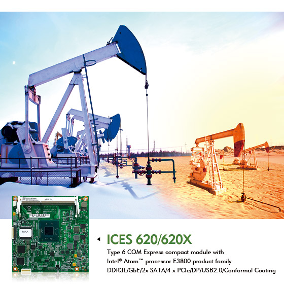 T6 COM Express ICES 620 Series with -40~85°C Supports Miniaturizes Intelligent Systems