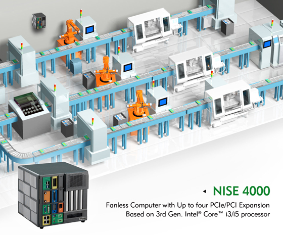 Dedicated Fanless Computer NISE 4000 Series for Smart Factory Automation