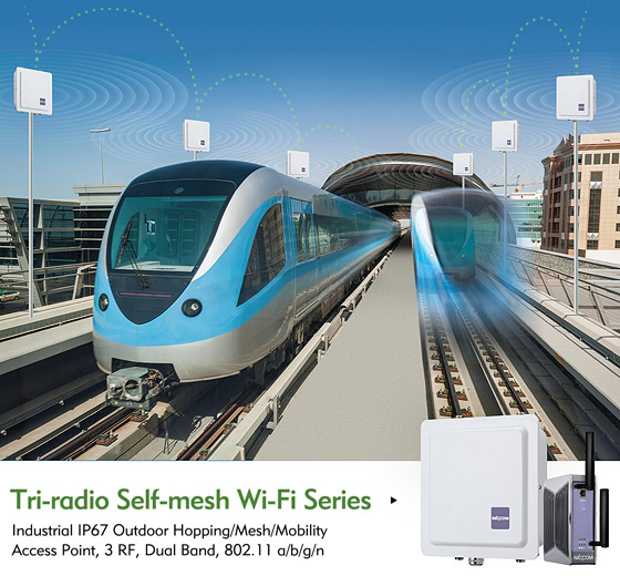 NEXCOM Infuses Mobility into Industrial Wireless Network with Tri-radio Self-mesh Wi-Fi Series