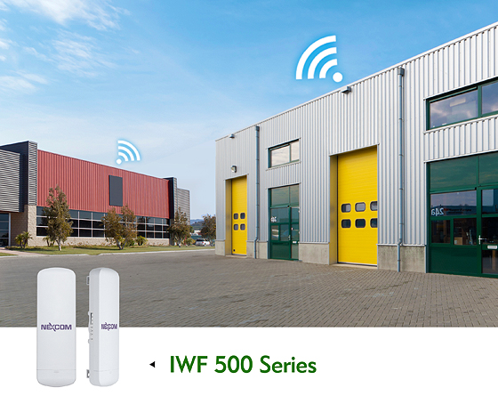 Unbeatable Cost-Effective Industrial Wi-Fi IWF 500 Supports P2P/P2mP for Semi-outdoor Applications