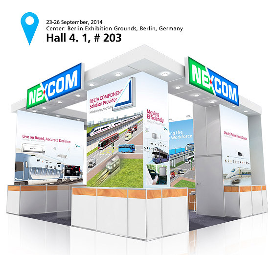NEXCOM to Showcase Advanced Transportation Computer Technology at InnoTrans 2014