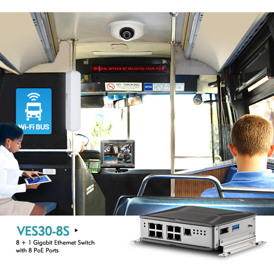 Fanless In-vehicle PoE Switches Simplify Wiring and Power Management