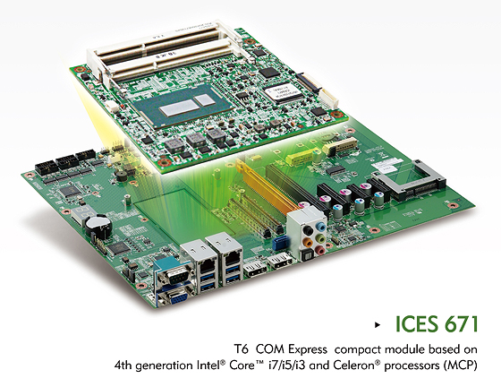 T6 COM Express Module ICES 671 Delivers Performance with Reduced Size & Power