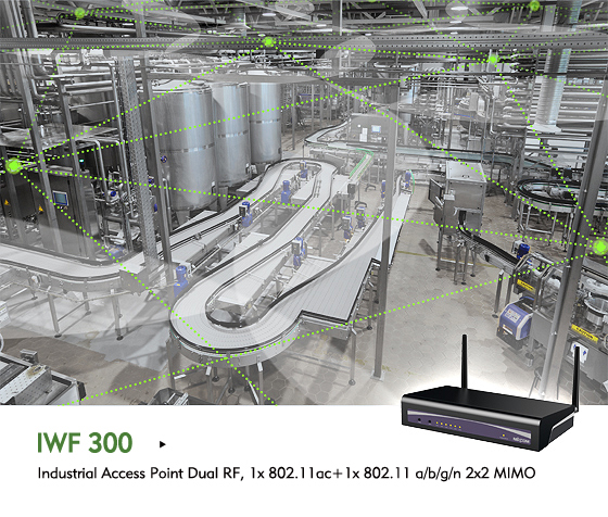 IWF 300 Spans Industrial Wi-Fi Mesh Network across Factory Floors through Obstacles