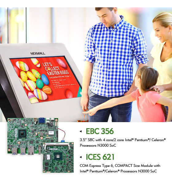 NEXCOM's Economical Single Board Computers Boast 4K Kiosk Applications