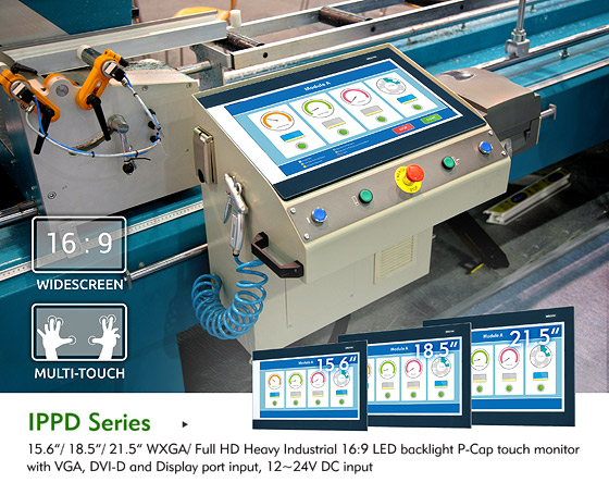 NEXCOM Adds Portfolios with Industrial Touch Monitors Featuring Widescreen and Multi-touch