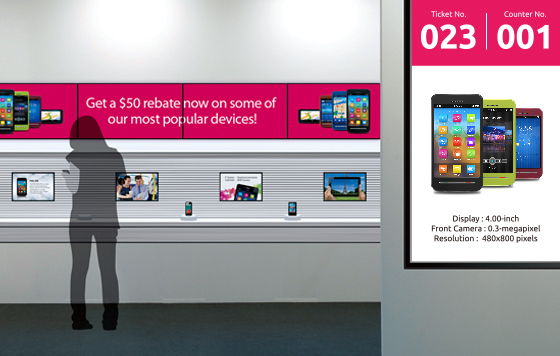 NEXCOM's Digital Signage Players Enrich Shopping and Queuing Experience in Hungarian Telcos