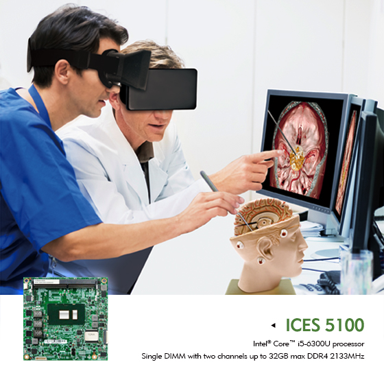 T6 COM Express ICES 5100 Series Assists VR Applications in Healthcare