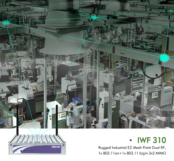 IWF 310 Builds The Road to Industry 4.0 with A Trustworthy Industrial Wi-Fi Mesh Network