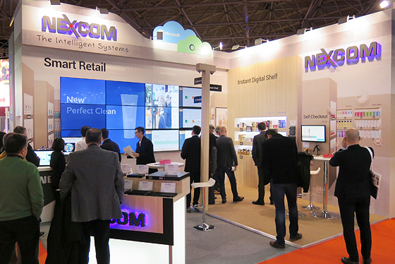 NEXCOM Smart Retail Solution Stunned Visitors at 2017 ISE