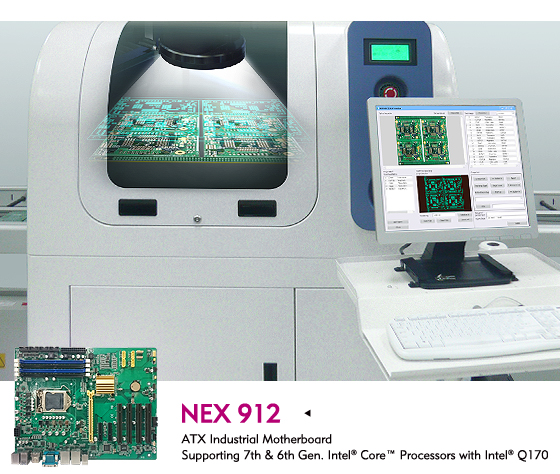 NEXCOM's NEX 912 Industrial Motherboard Gives Rise to Machine Vision Applications