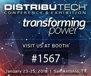 DistribuTECH: January 23-25, 2018 – San Antonio, Texas