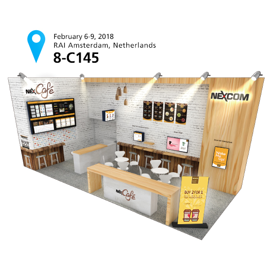 NEXCOM Brings A Taste of Future Smart Retail to ISE 2018