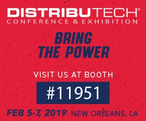 DistribuTECH: February 5-7, 2019 – New Orleans, LA