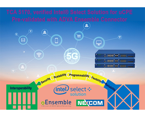 Driving Digital Transformation with NEXCOM TCA5170 and ADVA Ensemble Connector