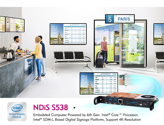 NEXCOM's Slim and Powerful Intel® SDM-L Digital Signage Player Expands Integration Options