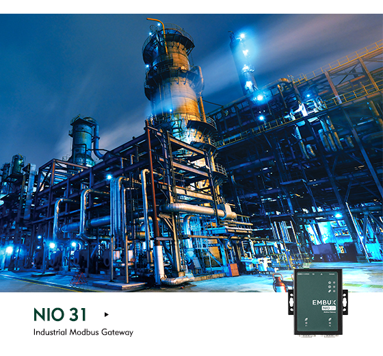 The NIO 31 is the Gateway to Both Serial and Modbus Data Support