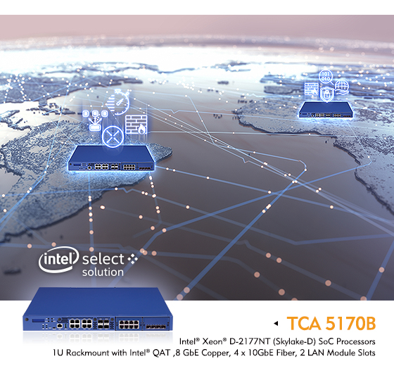 NEXCOM's TCA 5170B Verified as an Intel® Select Solution for uCPE with CentOS