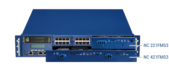 Figure 1. NVIDIA® Mellanox® ConnectX®-5-based 100G bypass LAN module in NSA 7146