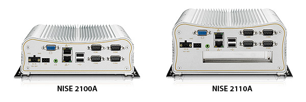 Fanless PC-NISE 2100A/ 2110A Rear View