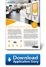 NEXCOM Digital Signage Player Automates QSR Dining Experience with Self-Service Integration